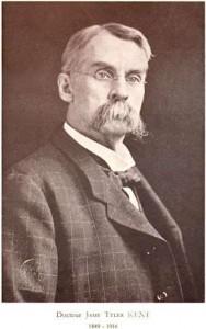 Kent, le maître de Eugène Austin, avec qui Pierre Scmidt apprendra l'homéopathie et rapportera le Répertoire en Europe
