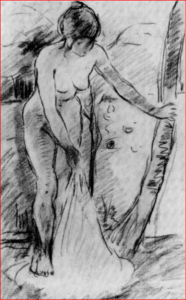Baigneuse, Morisot