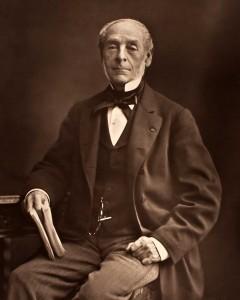 Ernest Legouvé en 1875, soit 30 ans après l'épisode décrit ici
