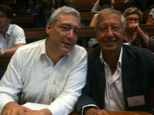 Le Dr. Grandgeorge et Edouard Broussalian.